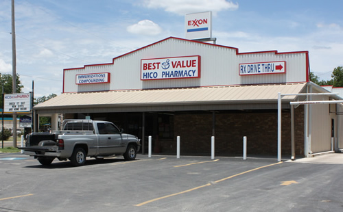 A picture of the Best Value Pharmacies Hico, Texas store