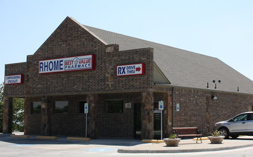 A picture of the Best Value Pharmacies Rhome, Texas store
